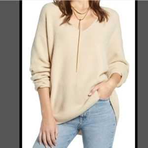 Something Navy Low Neckline Slouchy Pullover, S